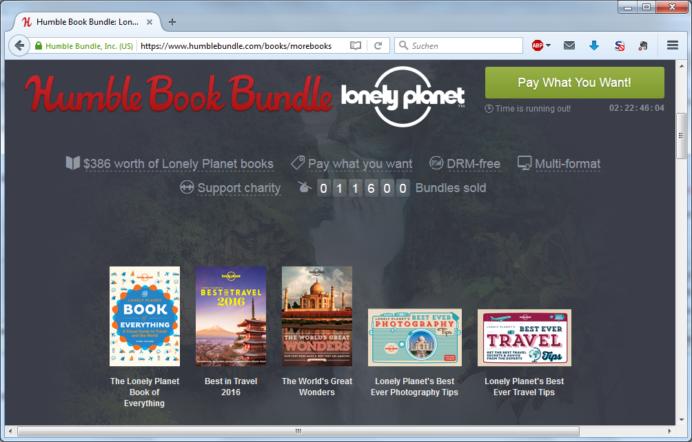 Humble Bundle Lonely Planet-Paket